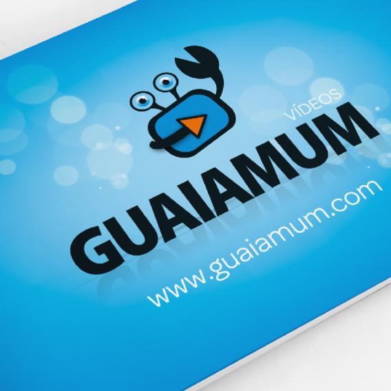 Desenvolvimento de marca e catálogo para Produtora de Vídeos Guaiamum